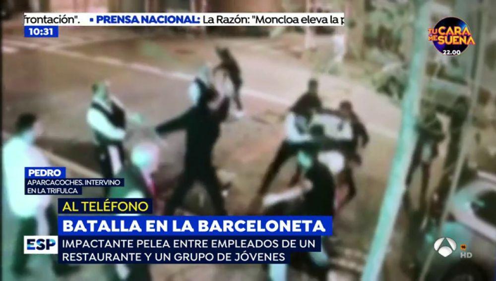 Pelea en La Barceloneta