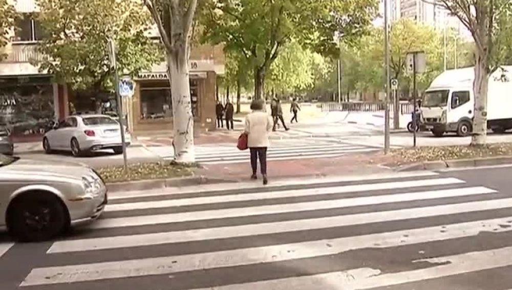 Paso de cebra en Pamplona