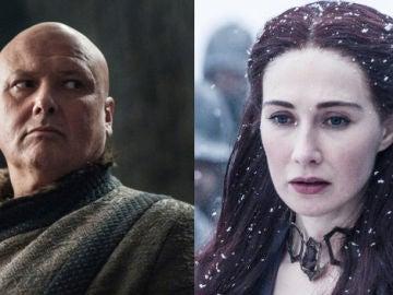 Varys y Melisandre en 'Juego de Tronos'