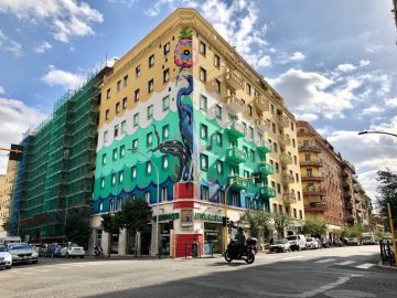Grafiti que purifica el aire en Roma