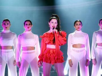 Soraya como Rosalia en 'Tu cara me suena'