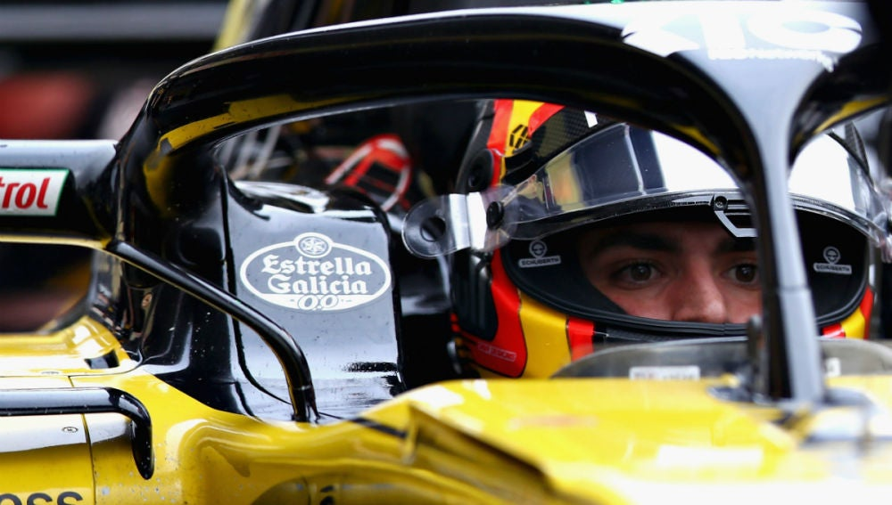 Carlos Sainz, a bordo del Renault