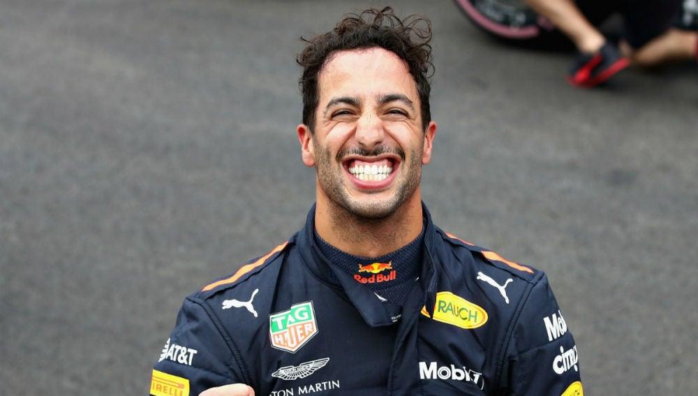 Daniel Ricciardo, sonriente