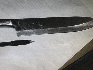 Cuchillo con el que que las niñas planeaban matar a sus compañeros
