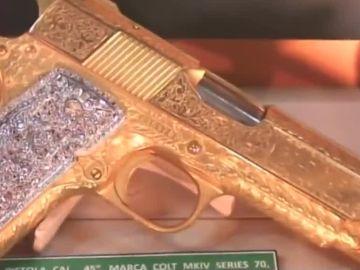 Pistola de una narcotraficante mexicano