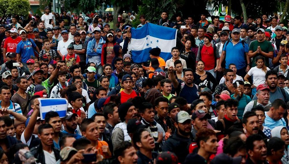 Imagen de la caravana de migrantes que quieren llegar a EEUU
