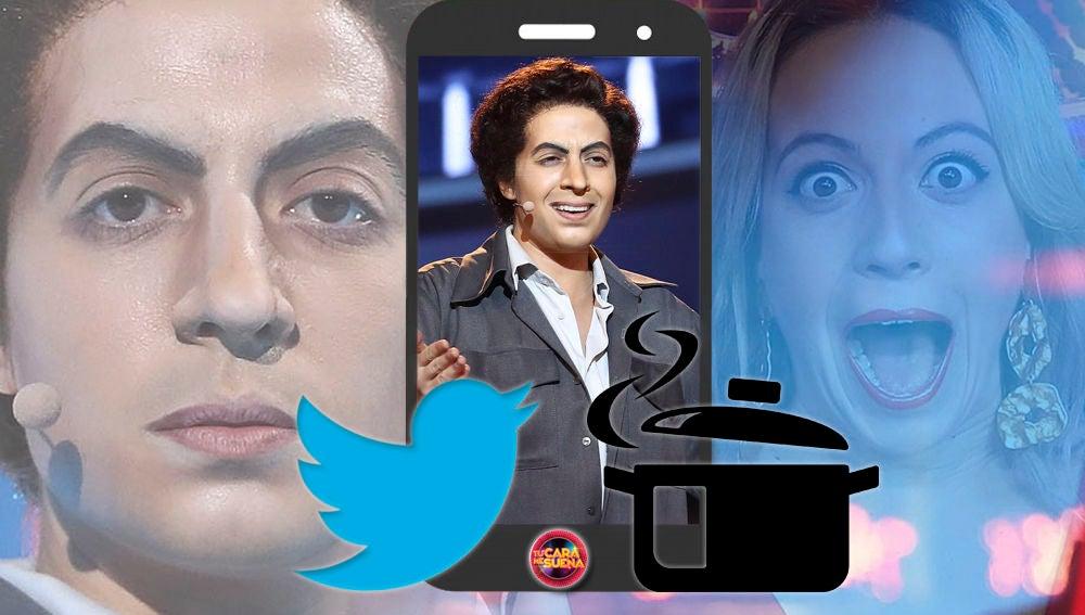 Las redes sociales atracan el suculento menú de María Villalón como Antonio Molina