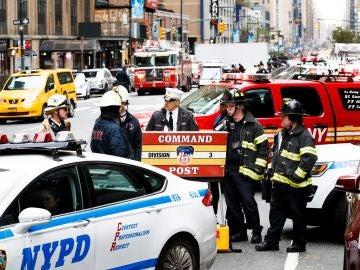 Imagen del desalojo del estudio en Nueva York