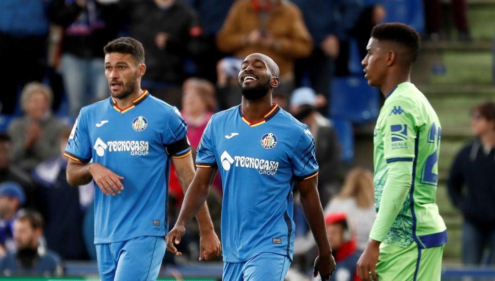 Foulquier celebra un gol con el Getafe