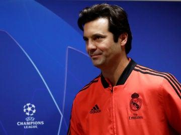 Solari, en su primera conferencia de prensa antes de un partido de Champions