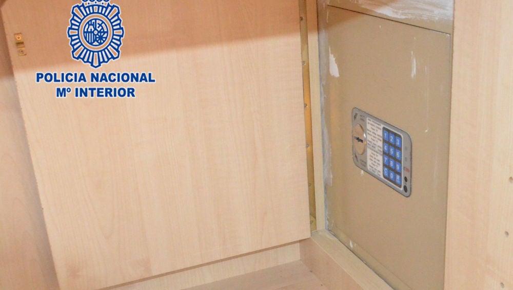 La empleada robó los 63 mil euros de esta caja fuerte
