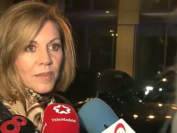 Declaraciones a los periodistas tras asistir al aniversario del periódico 'La Razón'