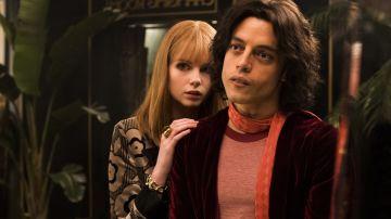 Mary Austin y Freddie Mercury en 'Bohemian Rhapsody'