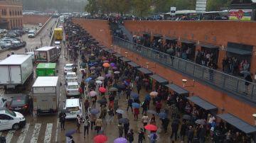 La estación de Atocha tras ser desalojada