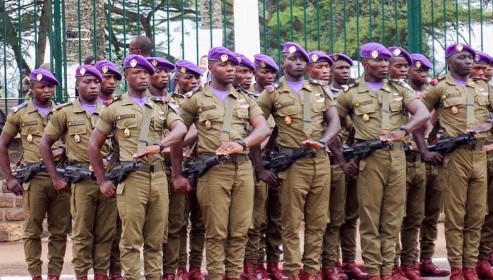 Soldados del Ejército de Camerún