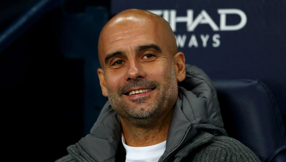 Guardiola, sonriente
