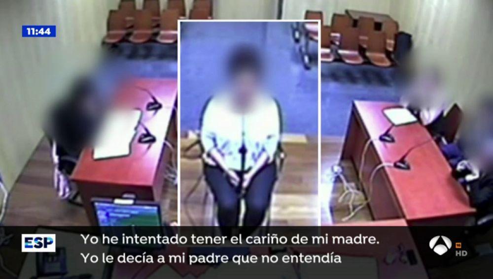 La hija de Ana Julia Quezada durante su declaración