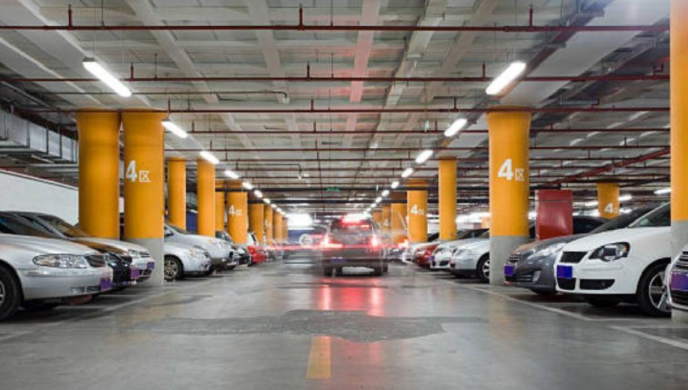 Parking de un centro comercial