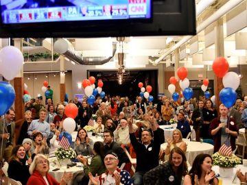 Celebración entre los demócratas