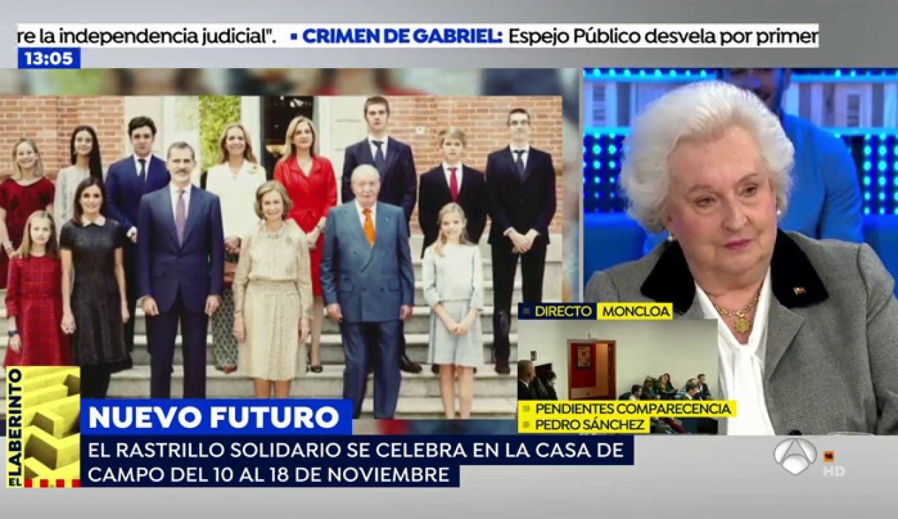 """La hermana del Rey, tras el anuncio del divorcio de la Infanta Cristina y Urdangarín: """"La he visto muy feliz"""""""