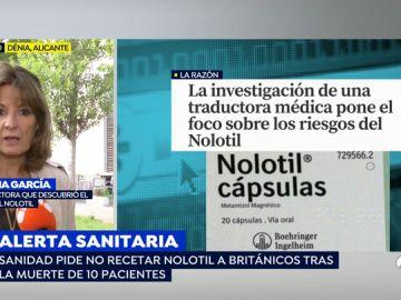 Alerta sanitaria en el consumo de Nolotil.