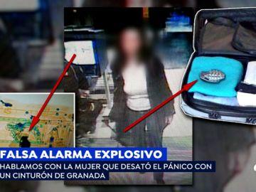 'Espejo Público' muestra la imagen de la mujer que paralizó el tráfico ferroviario por una hebilla de cinturón en forma de granada