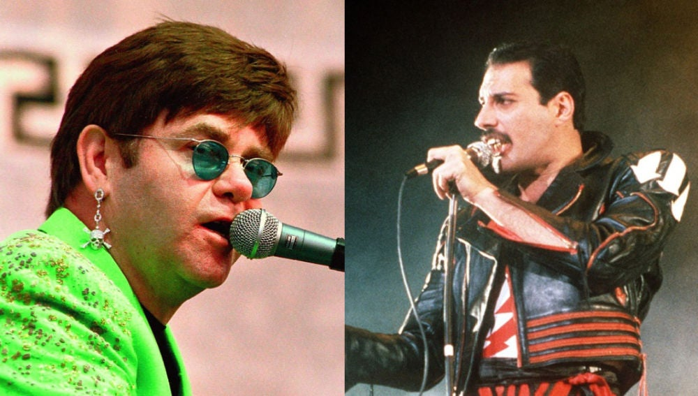 Elton John y Freddie Mercury