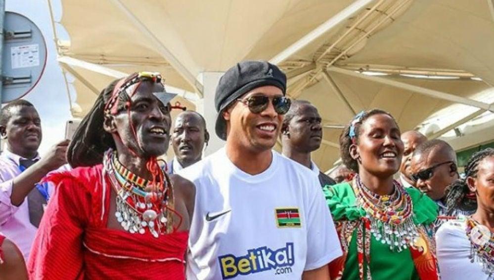 Ronaldinho, en un acto
