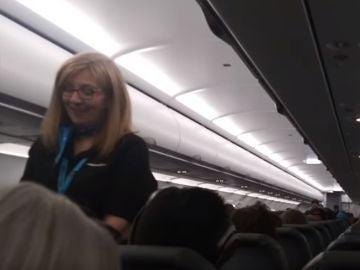 Momento durante el vuelo