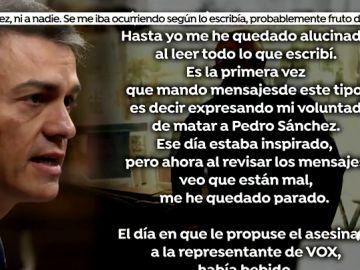 Declaraciones del francotirador detenido por querer matar a Pedro Sánchez.