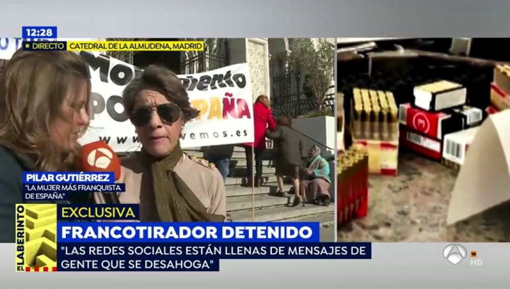 Pilar Gutiérrez, mujer más franquista de España.