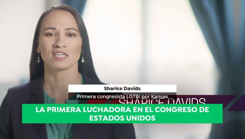 Lesbiana, nativa y luchadora de MMA: Sharice Davids hace historia al llegar al Congreso de EEUU