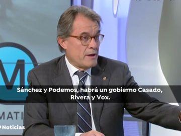 Artur Mas pide a los independentistas que apoyen los Presupuestos para evitar un adelanto electoral que beneficie a PP. Ciudadanos y Vox
