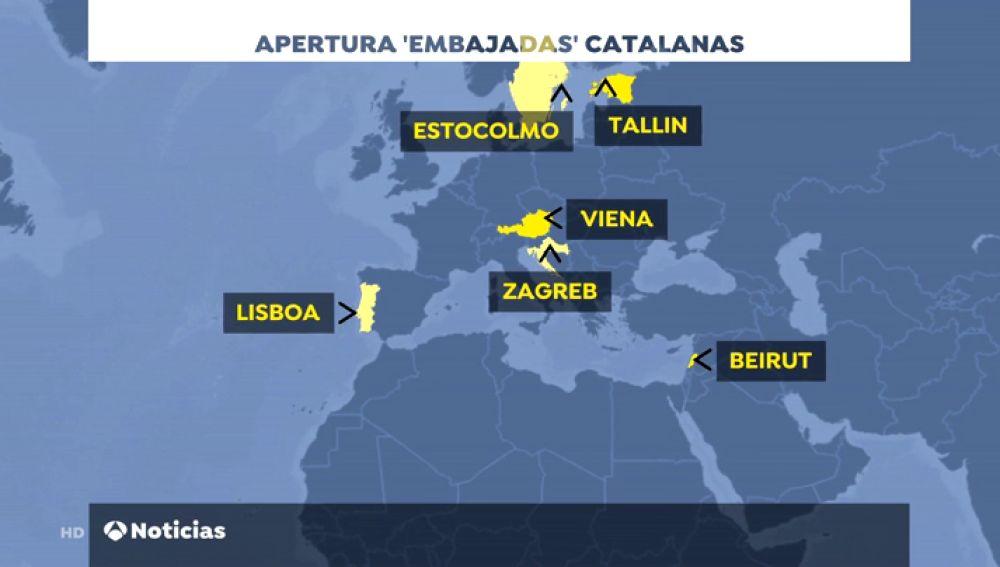 Exteriores rechaza la apertura de seis nuevas delegaciones de la Generalitat en el extranjero