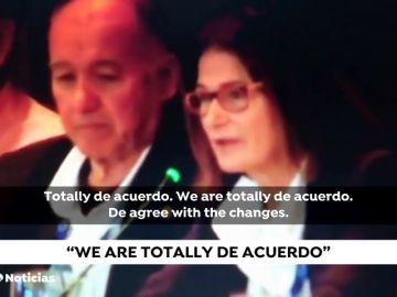 """""""We are totally de acuerdo"""", la presidenta de la Federación Española de Vela emula a Ana Botella"""