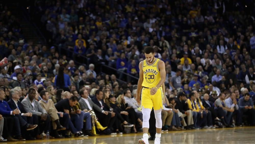 Stephen Curry, en el duelo ante los Bucks