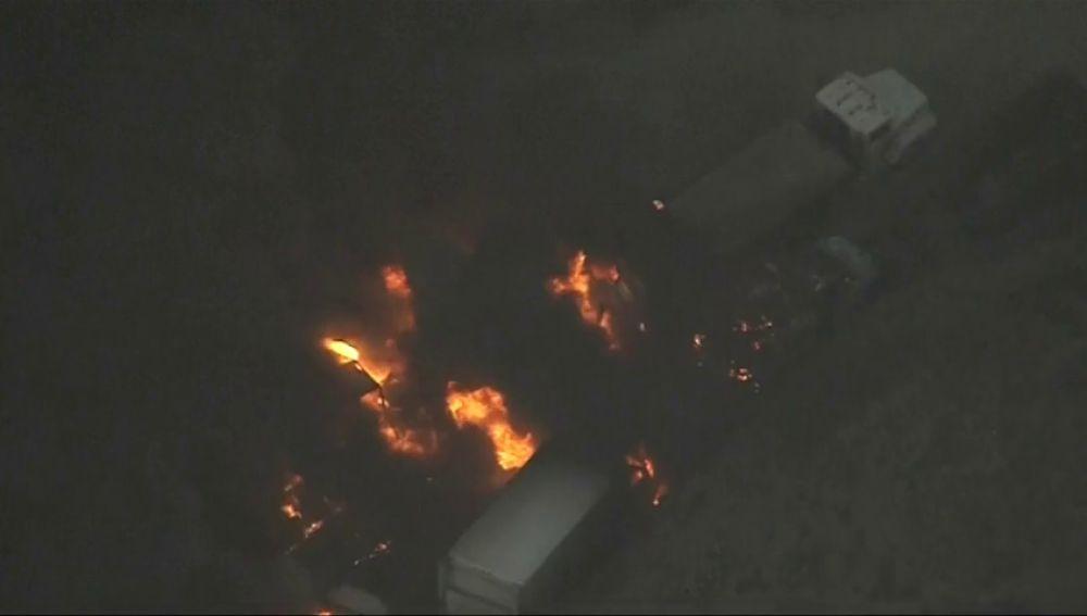 El incendio de California, visto desde el aire