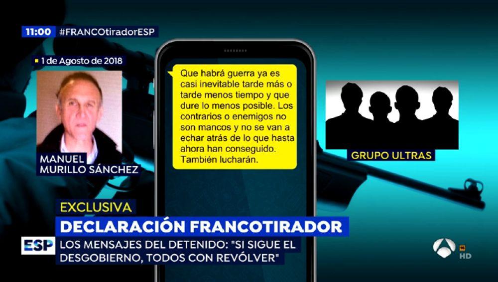 Los mensajes del francotirador que amenazaba con matar a Pedro Sánchez.