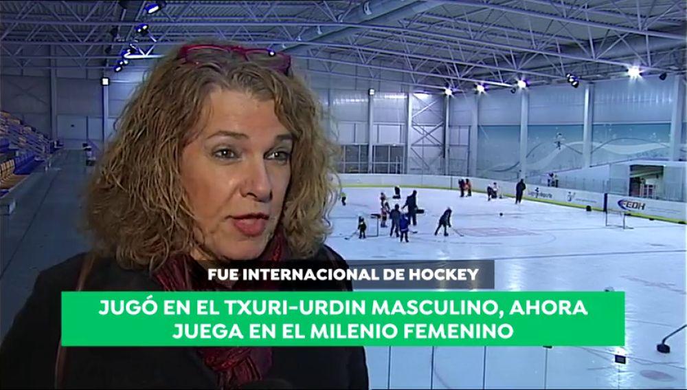 Jugó en el Txuri-Urdin masculino, ahora juega en el Milenio femenino: la historia de Nora Gómez