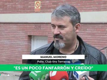 """Hablan los compañeros del campo de tiro de Manuel Murrillo: """"Es un tirador mediocre"""""""