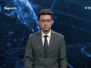 Un robot de la agencia de noticias Xinhua presenta los informativos en China
