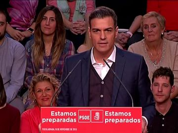 """Pedro Sánchez: """"La sociedad fue solidaria con la banca y la solidaridad es recíproca"""""""