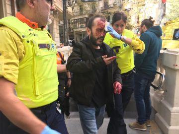 Víctima de un ataque en el Metro de Barcelona por llevar una bandera de España