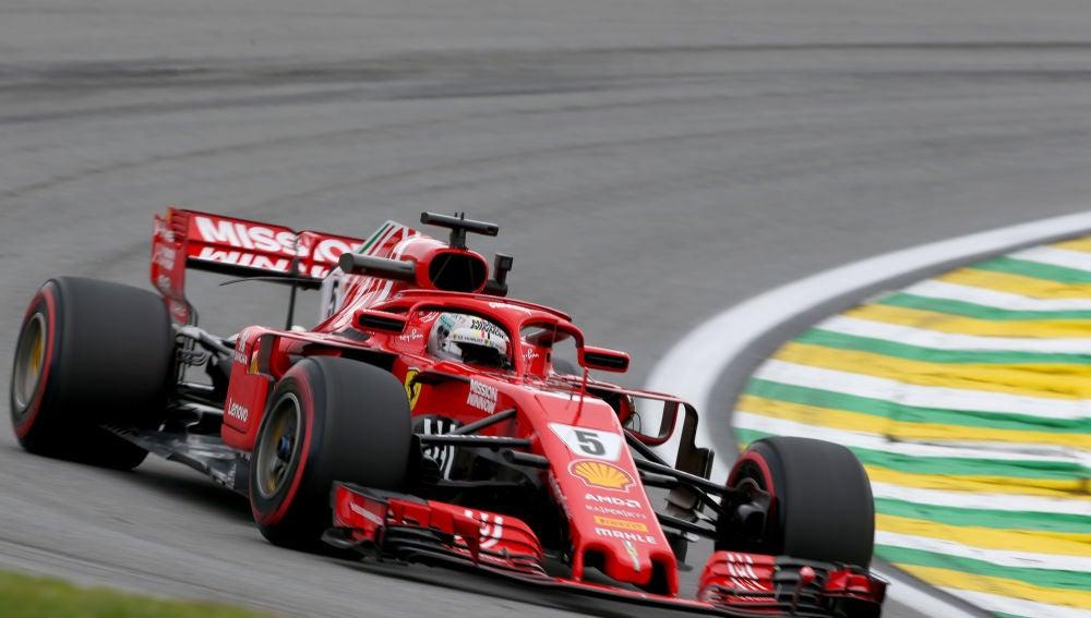 Sebastian Vettel, en el trazado de Interlagos
