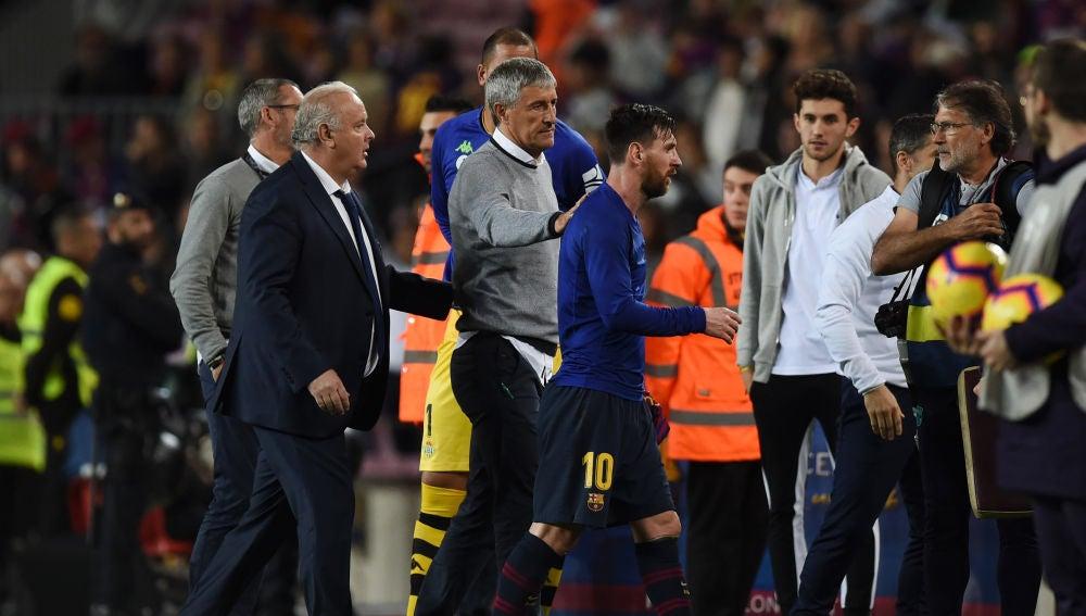 Quique Setién, tras la victoria ante el Barcelona