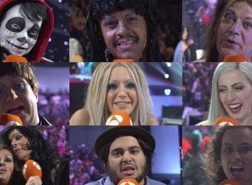 Los concursantes liberan emociones tras abandonar el escenario
