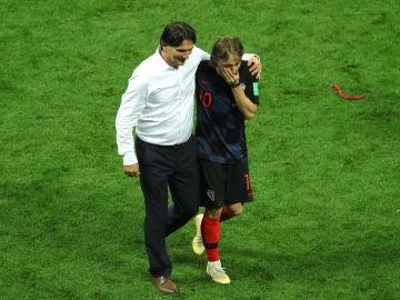 Daric, con Modric durante el Mundial de Rusia