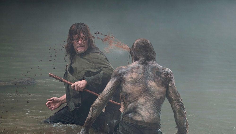 Daryl en el último episodio de 'The Walking Dead'