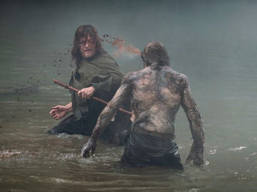 Daryl en el último episodio de 'The Walking Dead'