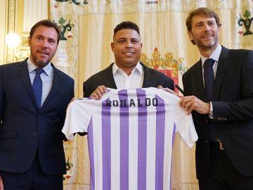 Ronaldo, en su presentación como máximo accionista del Valladolid